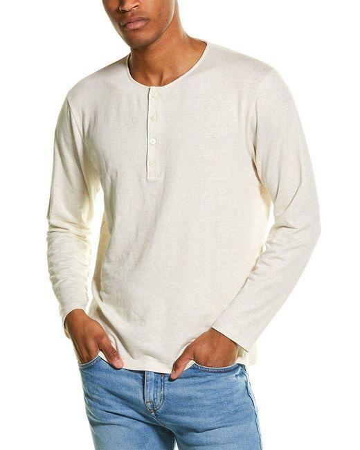 Theory Natural Steg Linen-blend Henley Shirt for men