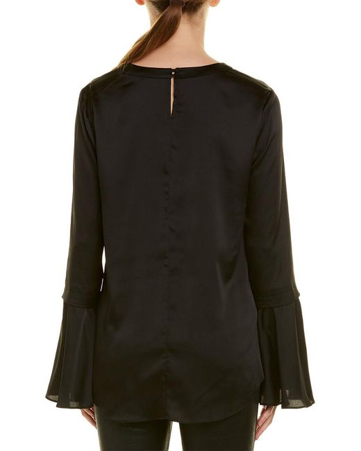 BCBGMAXAZRIA Black Bell-sleeve Top