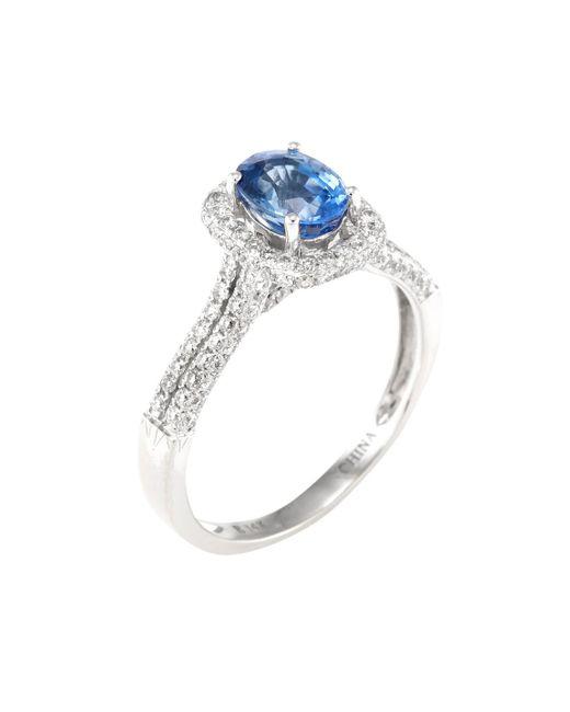 Estate Fine Jewelry - Multicolor Sapphire & Diamond Ring - Lyst