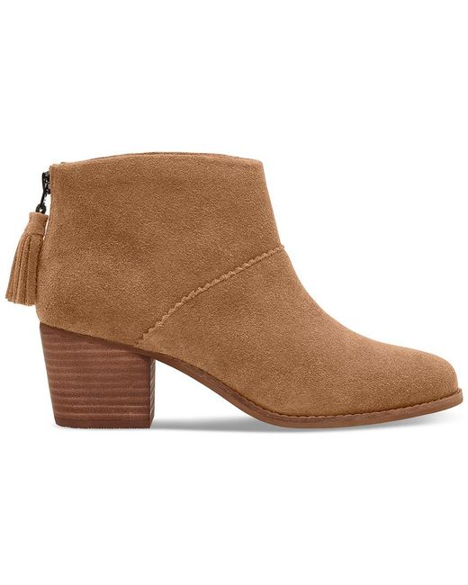TOMS - Brown Women's Leila Suede Ankle Boot - Lyst