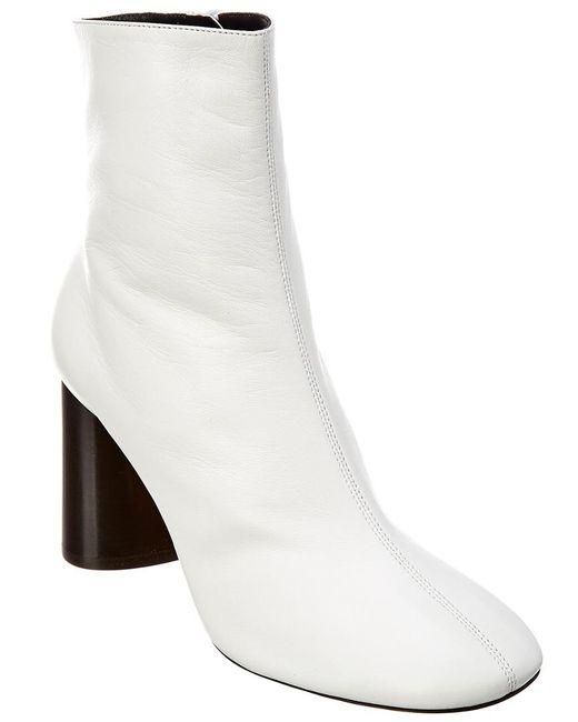 Céline White Leather Boot
