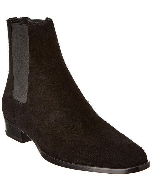 Saint Laurent Black Suede Boot for men