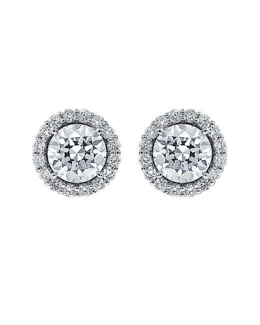 Diana M Metallic . Fine Jewelry 18k 2.22 Ct. Tw. Diamond Studs