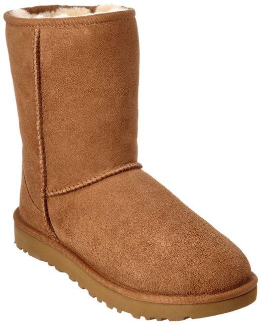 Ugg Brown Women's Classic Short Ii Water-resistant Twinface Sheepskin Boot