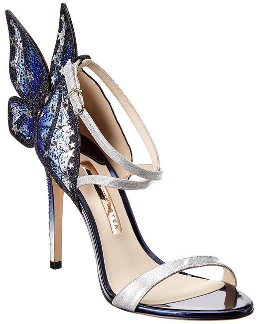 Sophia Webster Blue Chiara 115 Embellished Sandal