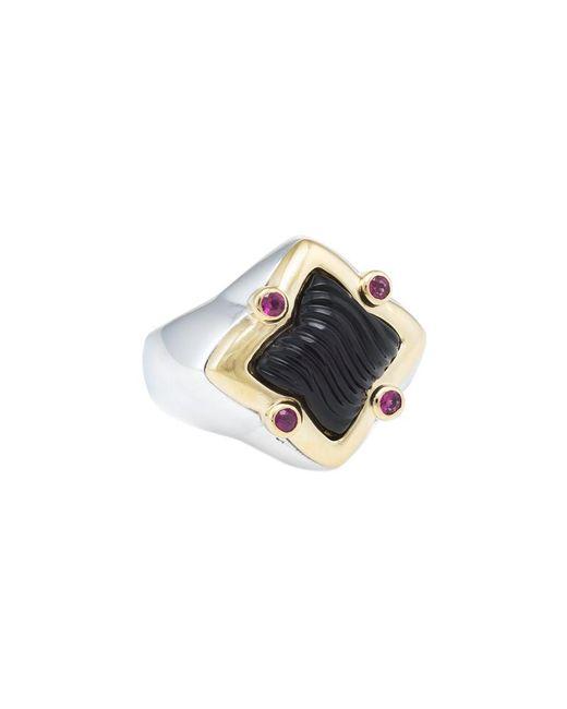David Yurman - Metallic David Yurman Quatrefoil 18k Over Silver 4.15 Ct. Tw. Gemstone Ring - Lyst