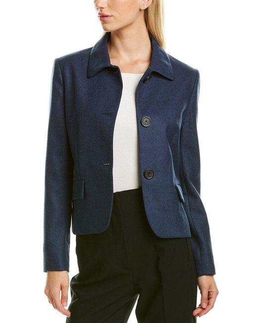 Piazza Sempione Blue Wool-blend Jacket