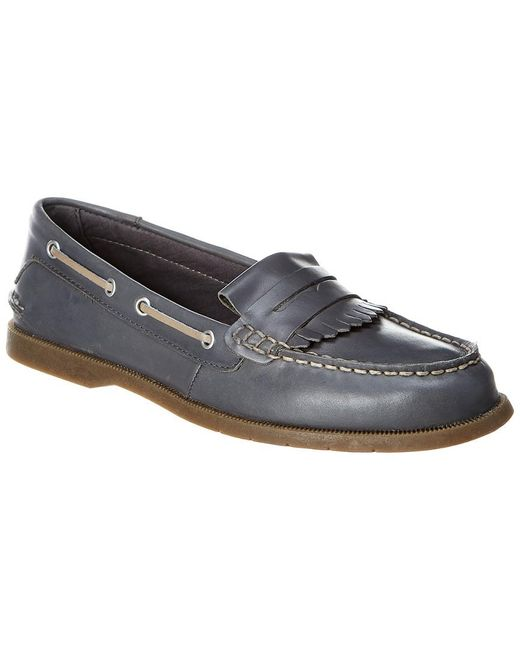 Sperry Top-Sider Gray Conway Kiltie Leather Loafer