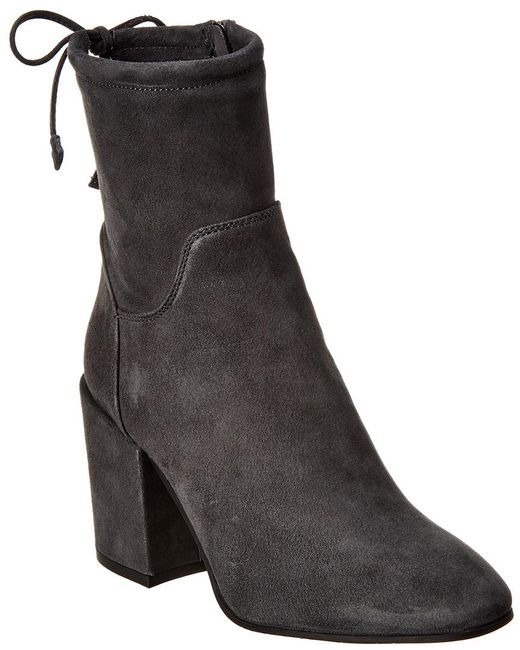 Aquatalia Gray Fairen Waterproof Suede Bootie