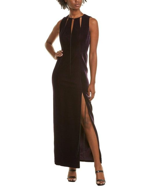 Elie Tahari Purple Maxi Dress