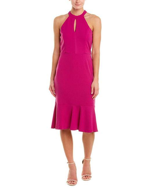 Bebe Pink Sheath Dress