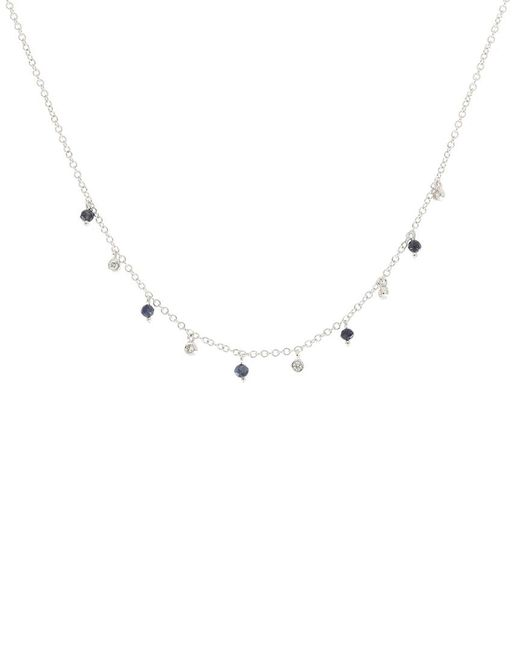 Meira T Metallic 14k Diamond & Gemstone Necklace