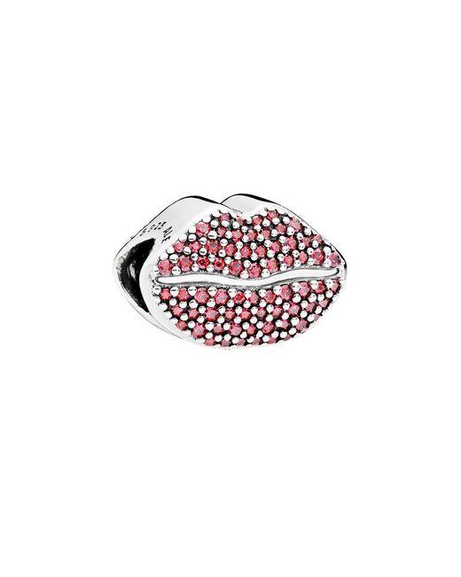 Pandora Silver Cz Red Kiss More Charm