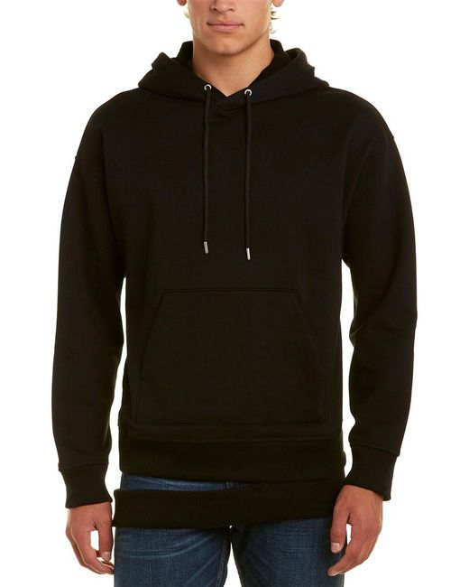 Helmut Lang Black Hanging Rib Hoodie for men