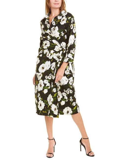Samantha Sung Black Hepburn Wrap Dress