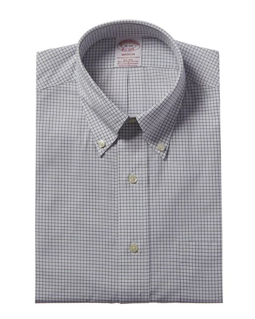 Brooks Brothers Blue 1818 Madison Fit Dress Shirt for men