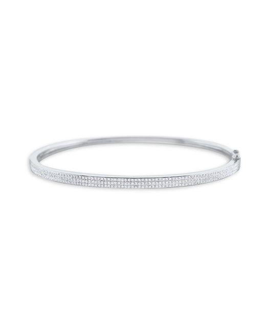 KC Designs - Metallic Hinged Diamond And 14k White Gold Bangle Bracelet - Lyst