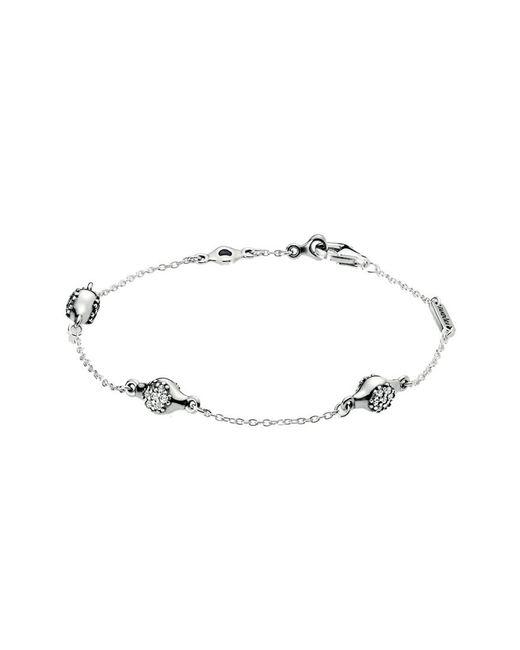 Pandora Metallic Pavé Modern Lovepods Bracelet - Final Sale