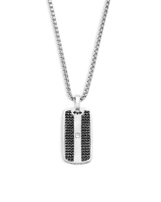 Effy - Metallic Sterling Silver Dog Tag Pendant Necklace - Lyst