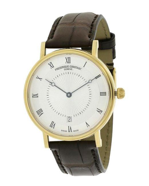 Frederique Constant Metallic Men's Leather Watch for men