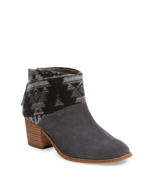 TOMS - Gray 'leila' Bootie - Lyst