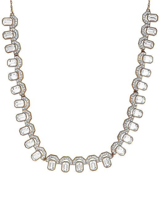 Swarovski Metallic Gallery 18k Rose Gold Plated Bib Necklace