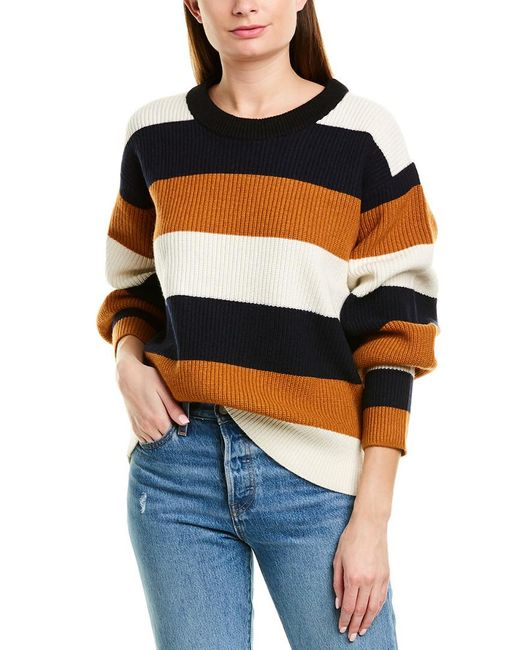 A.L.C. White Savannah Wool & Cashmere-blend Sweater