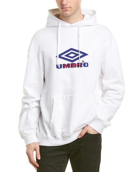 Vetements White Umbro For Hoodie for men