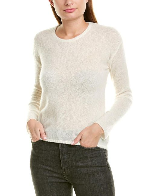 James Perse White Gauze Cashmere & Silk-blend Sweater