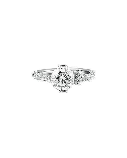 Diana M Metallic . Fine Jewelry Platinum 2.85 Ct. Tw. Diamond Ring