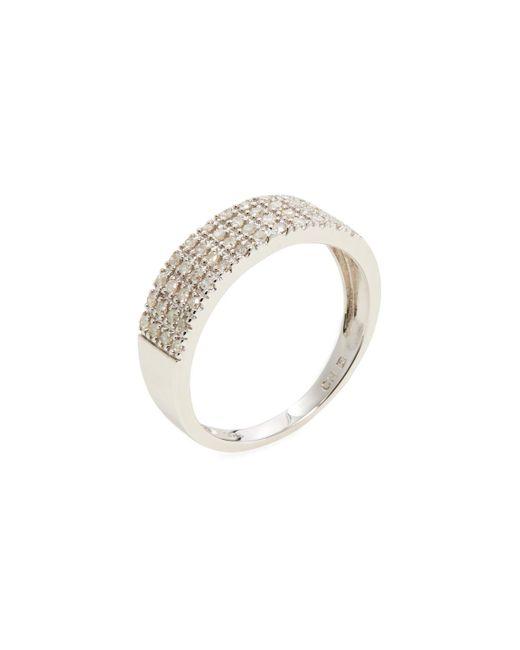 Rina Limor - Metallic Four Row Diamond Band Ring - Lyst