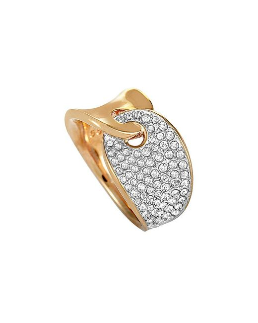 Swarovski Metallic Crystal Rose Gold Plated Stainless Steel Ring