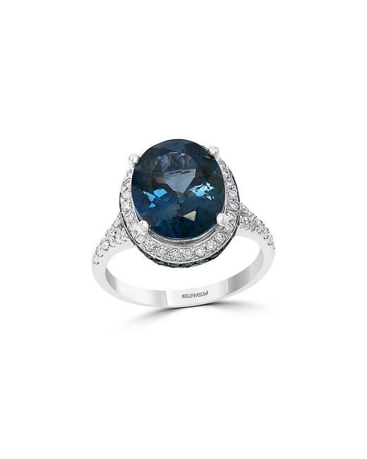 Effy Blue Fine Jewelry 14k 6.89 Ct. Tw. Diamond & Gemstone Ring