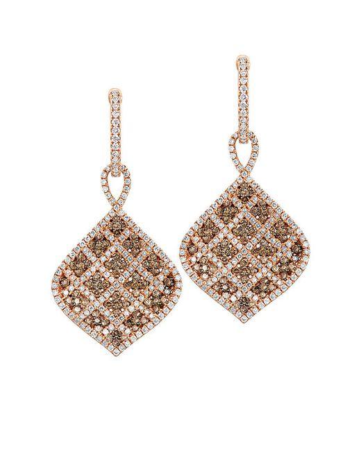 Le Vian Metallic Chocolatier 14k Rose Gold 1.63 Ct. Tw. Diamond Drop Earrings