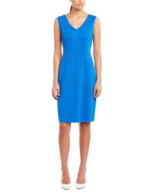 St. John Blue Wool-blend Sweaterdress