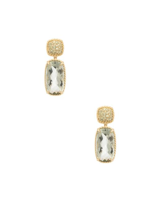 David Yurman | Green Chatelaine 18k Yellow Gold, Prasiolite & Demantoid Garnet Drop Earrings | Lyst