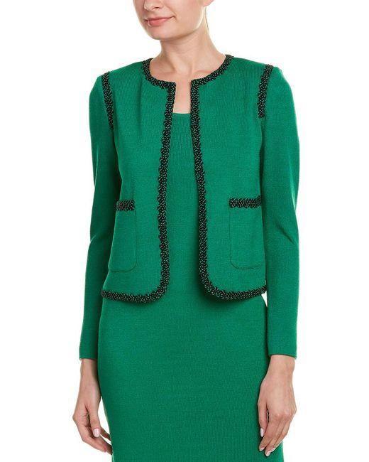 St. John Green Wool-blend Jacket