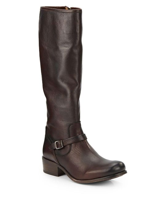 Frye - Brown Lynn Strap Tall Leather Boots - Lyst