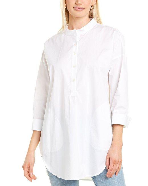 Go> By Go Silk White Go>silk Big Shirt
