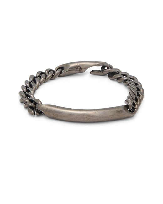 Giles & Brother - Metallic Id Chain Bracelet - Lyst
