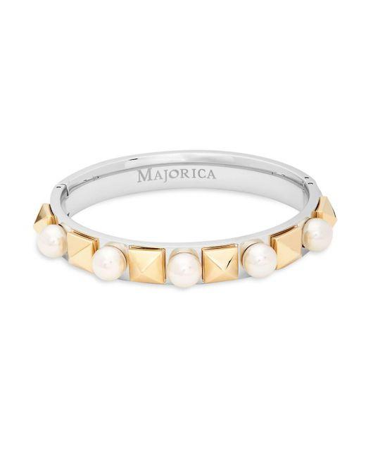 Majorica - Metallic Pearl & Sterling Silver Bracelet - Lyst