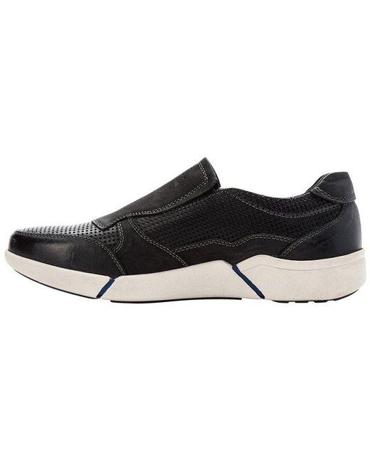 Propet Black Lane Leather Slip-on for men