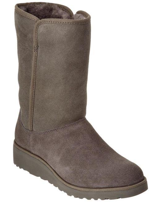 Ugg Gray Women's Amie Water-resistant Twinface Sheepskin Boot