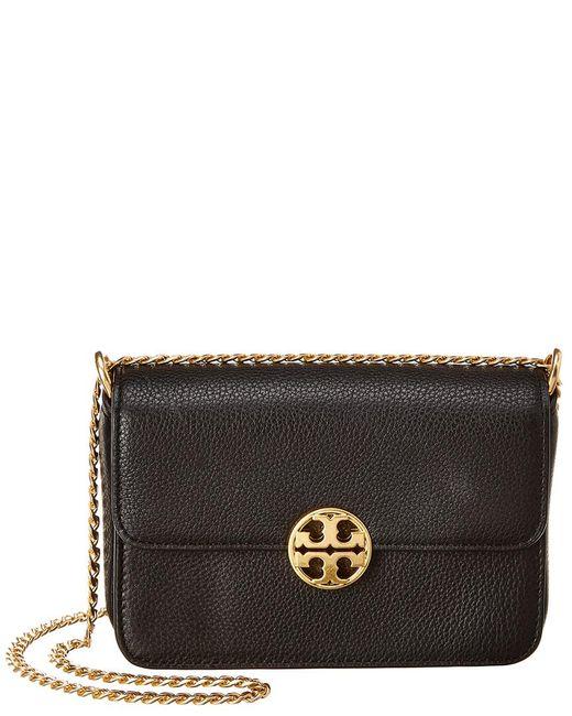 Tory Burch - Black Chelsea Mini Leather Crossbody - Lyst