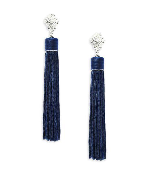 Gemma Simone | Blue Linear Earrings | Lyst