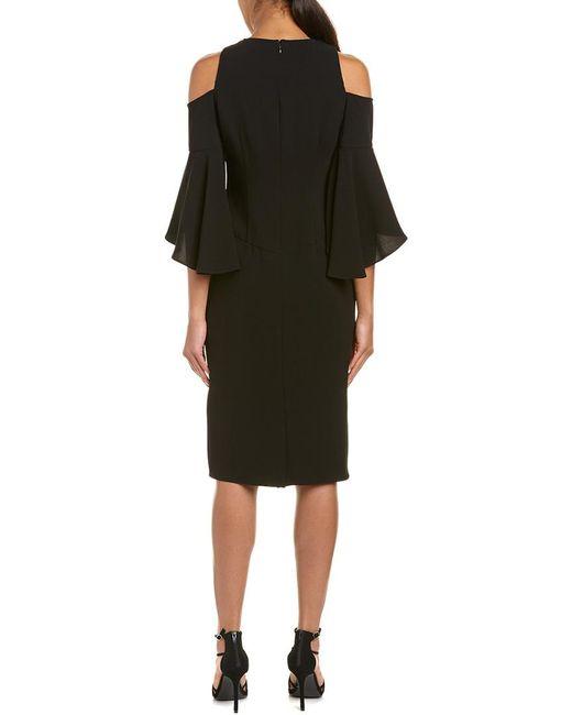Shoshanna Black Sheath Dress