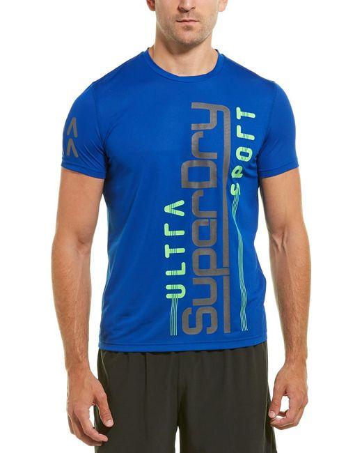 Superdry Blue Ultra Vertical T-shirt for men