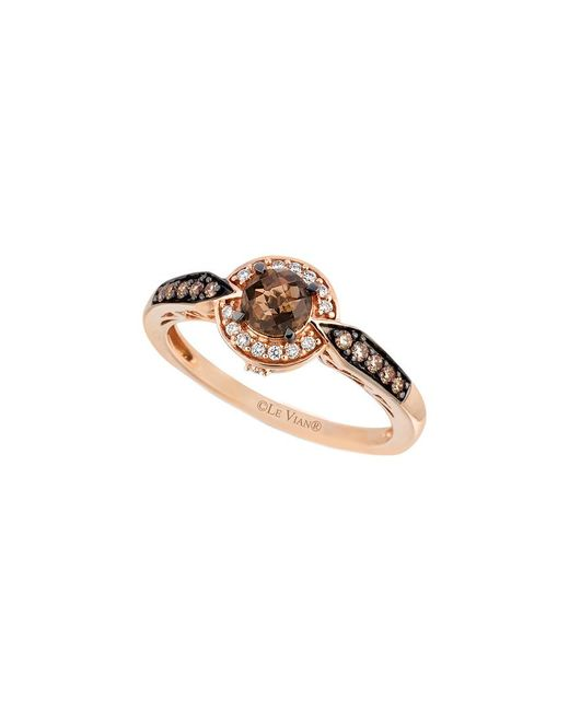 Le Vian Metallic ? 14k Rose Gold 0.61 Ct. Tw. Diamond & Smoky Quartz Ring