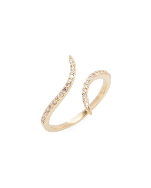Danni - Metallic 14k Yellow Gold Diamond Bypass Ring - Lyst