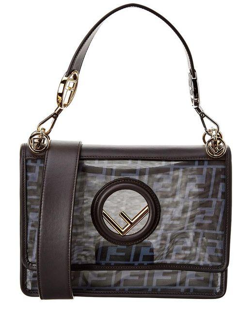 Fendi Blue Kan I F Mesh Shoulder Bag